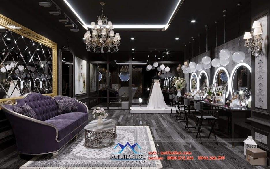 thiết kế studio áo cưới ấn tượng