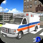 Ambulance Rescue Driver 3D Icon
