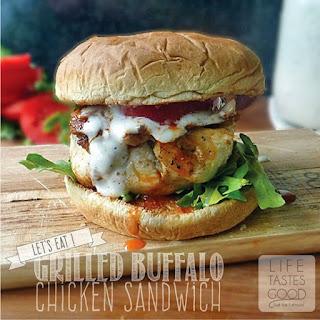 Grilled Buffalo Chicken Sandwich.