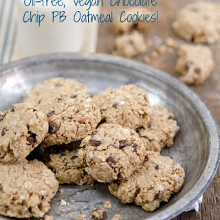 Vegan Oil-Free Oatmeal Peanut Butter Cookies Recipe