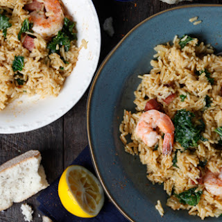 Creole Rice with Sausage, Greens & Shrimp.