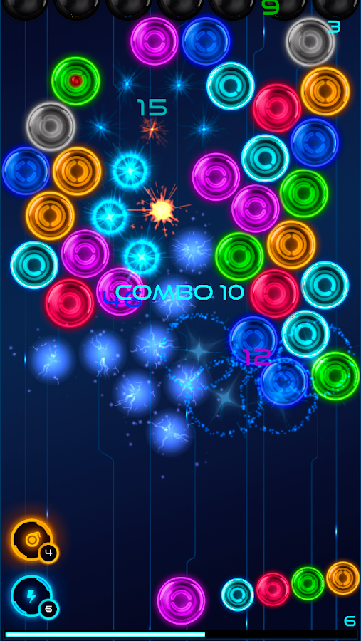 Magnetic balls: glowing neon- screenshot