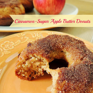 Cinnamon-Sugar Apple Butter Donuts.