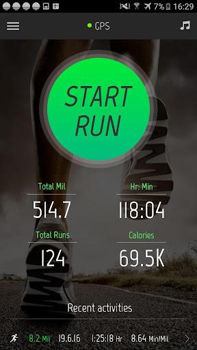 Running Distance Tracker + Screenshot