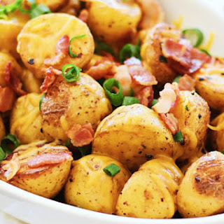 Cheesy Roasted Potatoes with Bacon