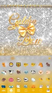 Golden-Bow-Kika-Keyboard-Theme 2