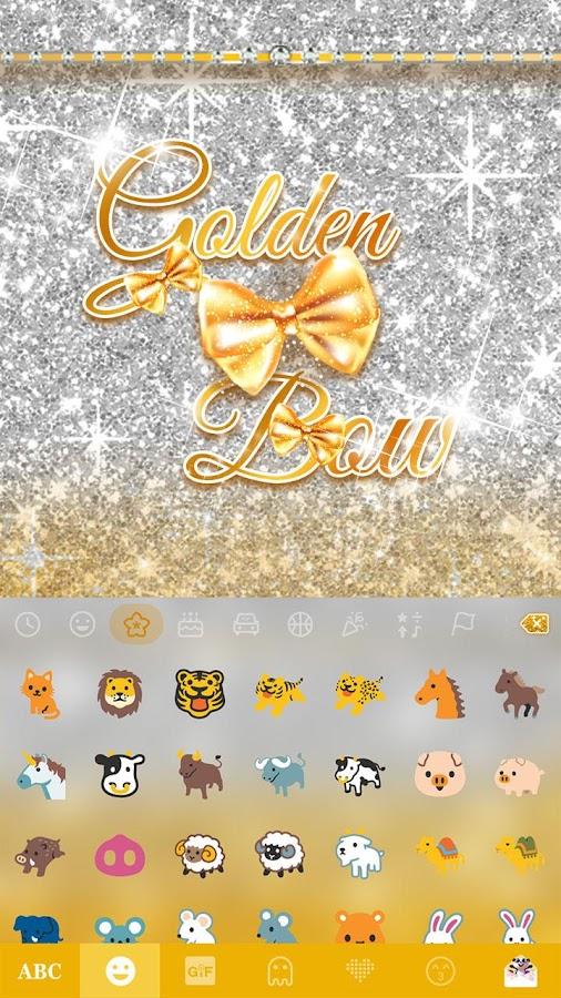 Golden-Bow-Kika-Keyboard-Theme 10
