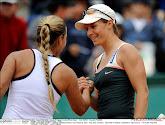 Kirsten Flipkens wenst Dominika Cibulkova het allerbeste