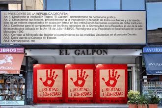 Photo: Marcas de la Memoria (6) Teatro El Galpón. 7 de mayo de 1976, decreto dictatorial de clausura.
