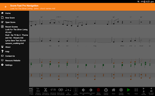 Score Fast Pro: compose, notate, play, print music- screenshot thumbnail