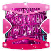 Pink Sparkle Keyboard Theme