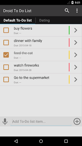 Droid To Do List