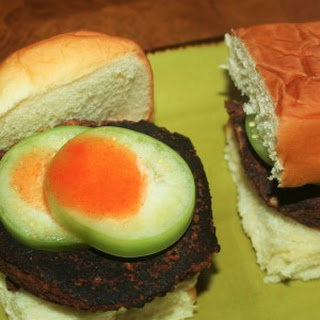 Black Bean Portobello Mushroom Sliders with Bloody Mary Glaze