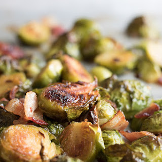 Spicy Maple Bacon Brussels Sprouts.