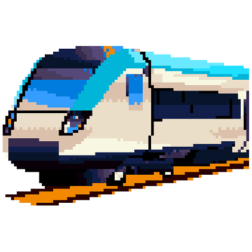 Trains Pixel Art: Color by Number,Sandbox Coloring Icon
