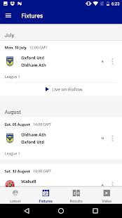 Oldham Athletic Official App- screenshot thumbnail