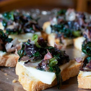 Savory Radicchio and Prosciutto Crostini Topped with Sweet Syrupy Sapa