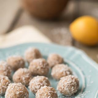 Raw Lemon Coconut Macaroons.