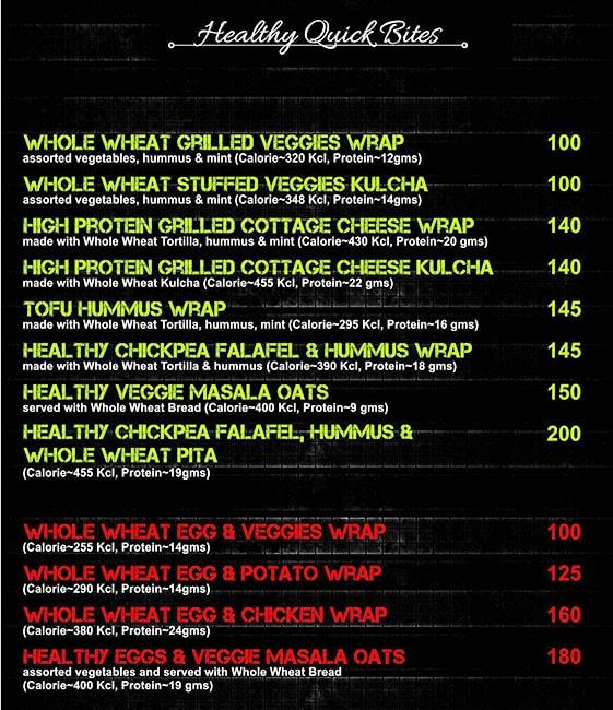 Fit Kitchen India menu 2
