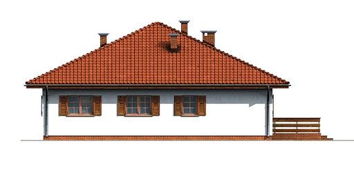 Dom przy Słonecznej - Elewacja tylna