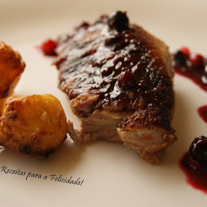 Roasted Duck with Red Fruit Sauce.