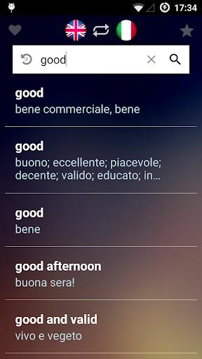 イタリア語英語辞書