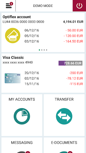 Web Banking screenshot