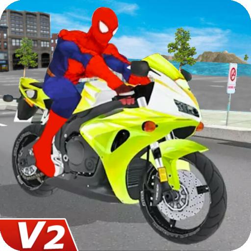 Superhero Bike Racing: Stunts Games