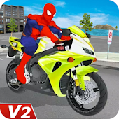 Superhero Bike Racing: Stunts Games
