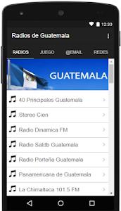 Radios de Guatemala Gratis screenshot 0