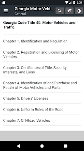 Georgia Motor Vehicles & Traffic Code 2019 (free) - náhled