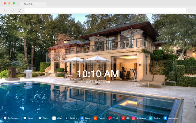 Mansion New Tab Page HD Wallpapers Theme