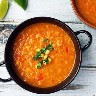 Sweet Potato and Corn Soup.
