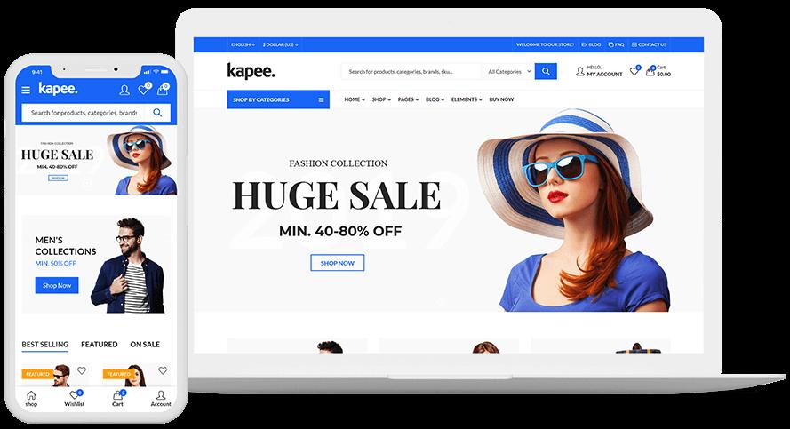 Wordpress ecommerce theme Kapee