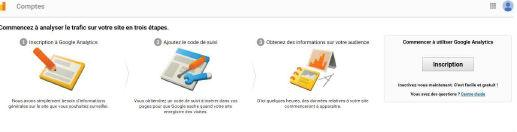Image création compte Google Anlaytics