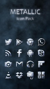 Metallic Icon Pack Theme v1.0.0