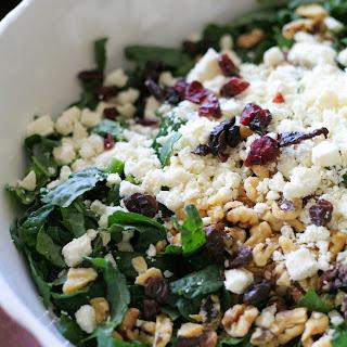 Kale and Quinoa Salad with Ricotta Salata (or feta)