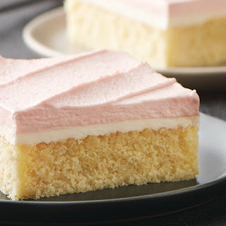 Double-Frosted Yellow Sheet Cake.