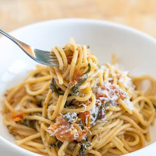 Spaghetti with Swiss Chard and Tomato