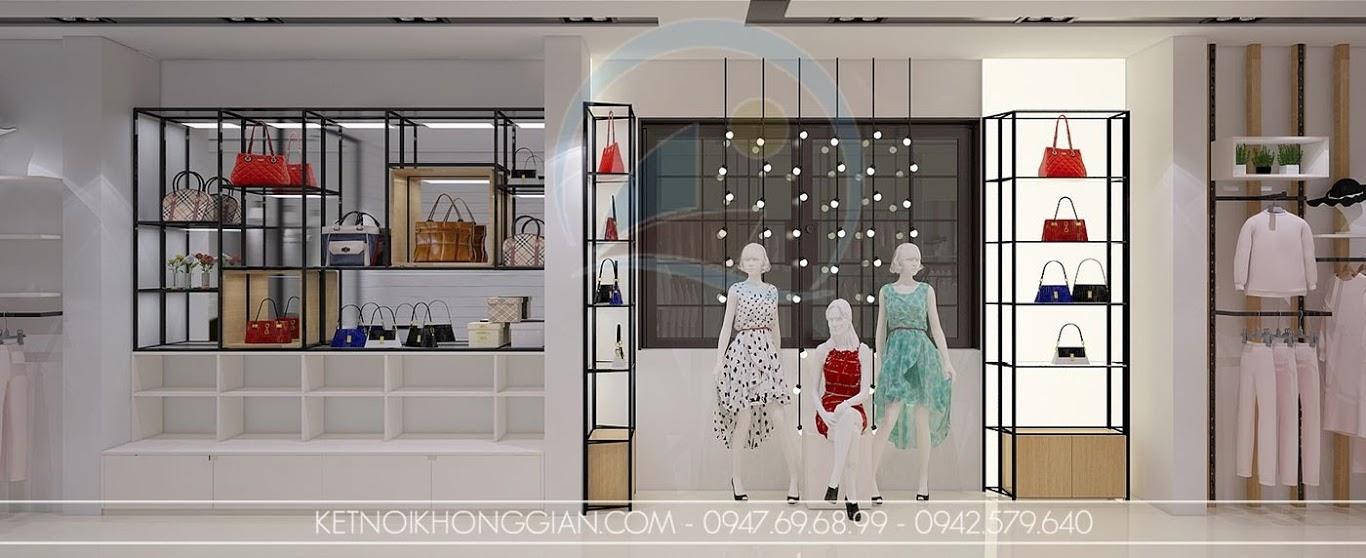 thiết kế cửa hàng thời trang nữ sáng tạo