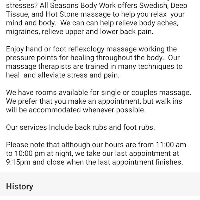 Fall Seasons Bodywork Montague - Massage Therapist in Brooklyn