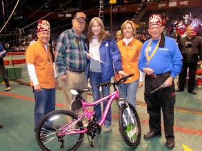 Photo: 1st bike winner