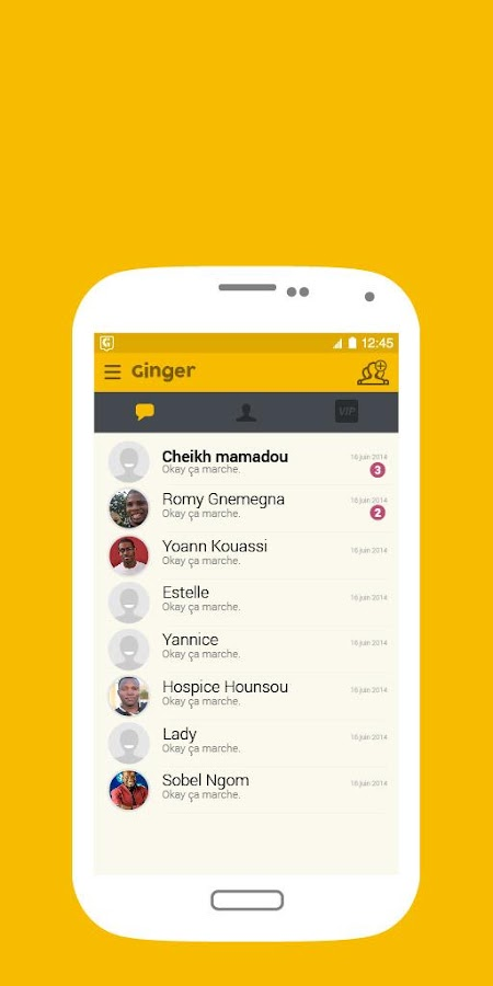 Ginger Messenger- screenshot