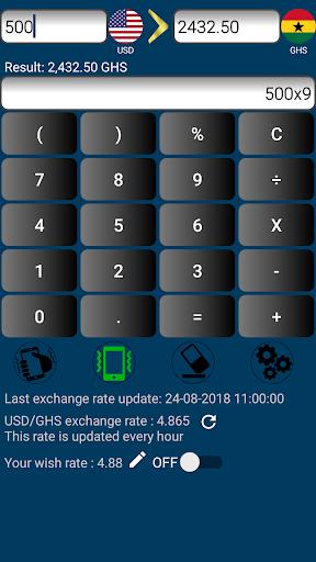 Us Dollar To Ghanaian Cedi Or Ghs Usd Screenshot 4