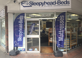 Sleepyhead-beds shop entrance