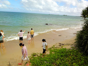 Photo: The beach down the hill from our dormitory.