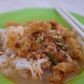 Pig Skin Curry Chu Cheong Fun - Noodle with Curry by Beh Heng Long - Food & Drink Plated Food ( malaysian food )