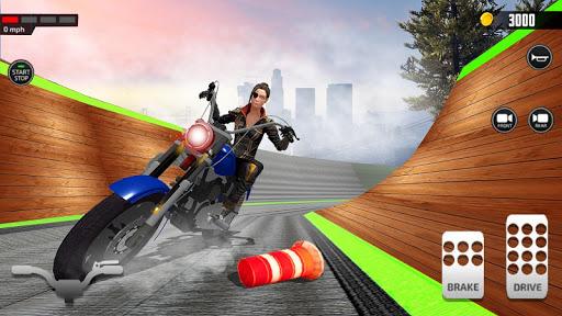 Impossible Mega Ramp Moto Bike Rider Stunts Racing screenshots 7