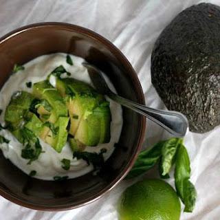 Savory Avocado and Lime Yogurt.