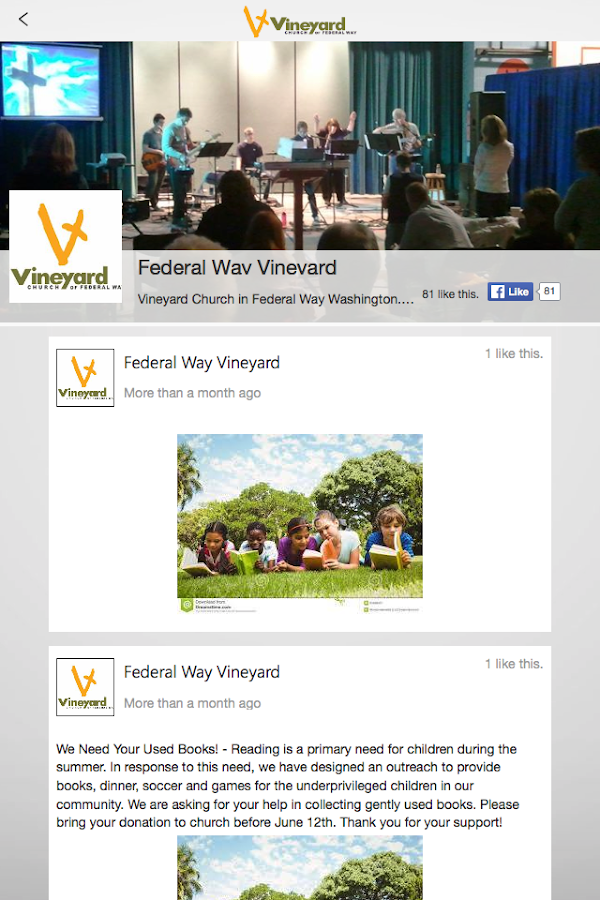 Vineyard Church FW- screenshot